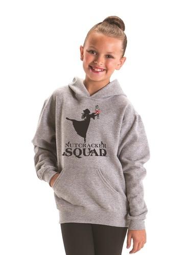 "Motionwear ""Hoodie"" Motionwear 4879-017 GRAY, imprimé: ""Nutcracker Squad"" au devant"