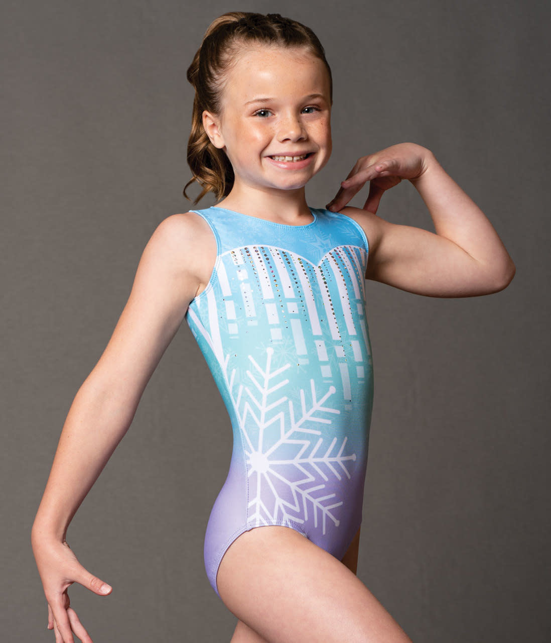 "Motionwear Maillot gymnastique Motionwear 1722, Bretelles larges, Style ""Tank"", Imprimé: sublimation"
