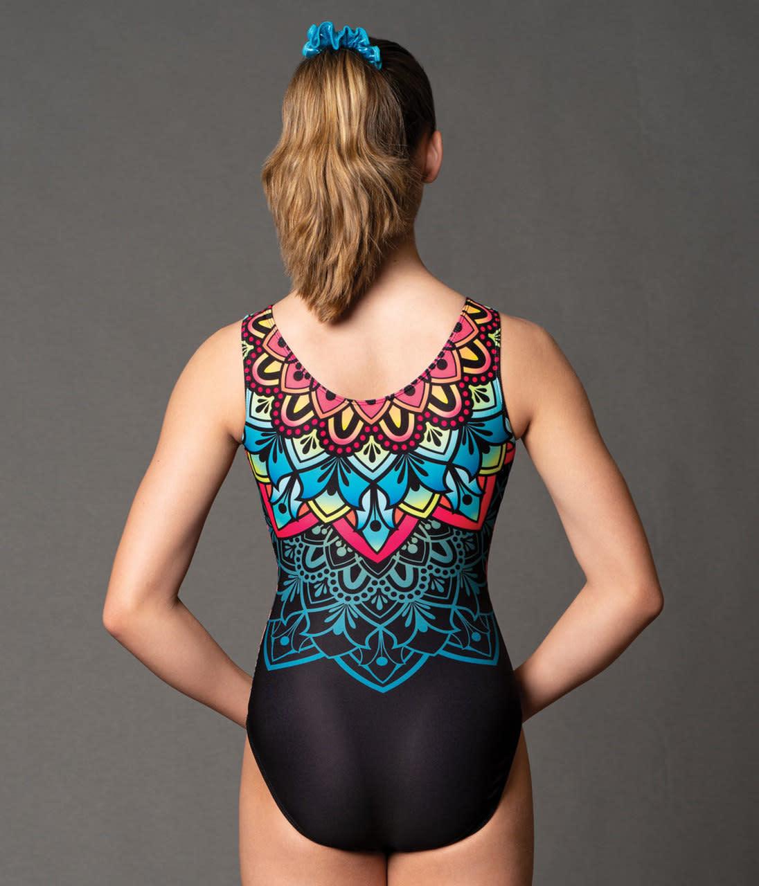 """Motionwear Maillot gymnastique Motionwear 1727, Bretelles larges, Style """"Tank"""", Imprimé: sublimation"""