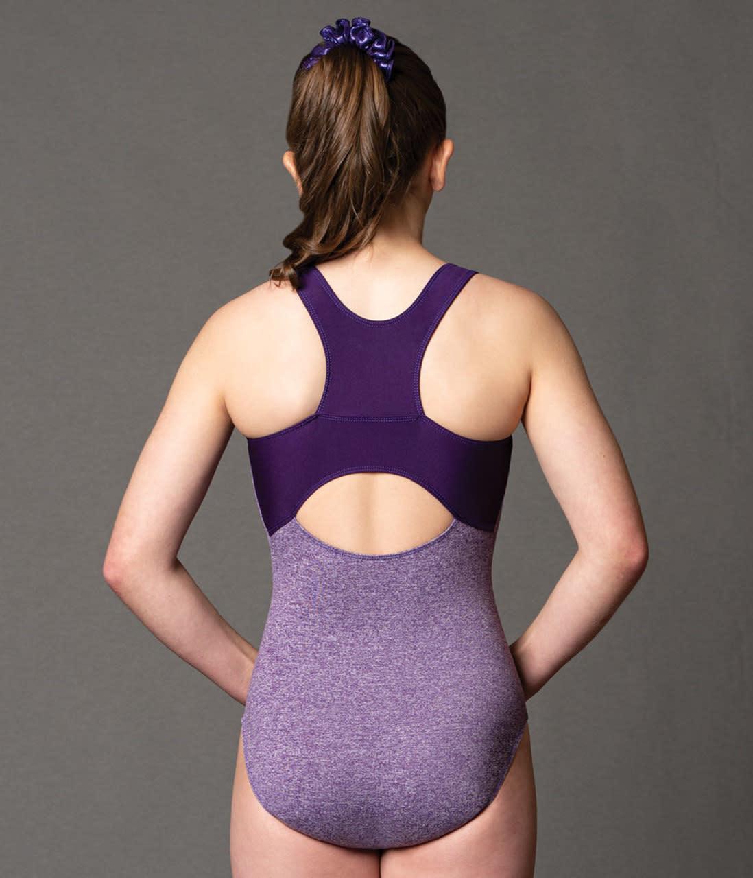 "Motionwear Maillot gymnastique Motionwear 1692-503, Bretelles larges, Style ""Tank"", Imprimé: ""Work Hard Dream Big"""