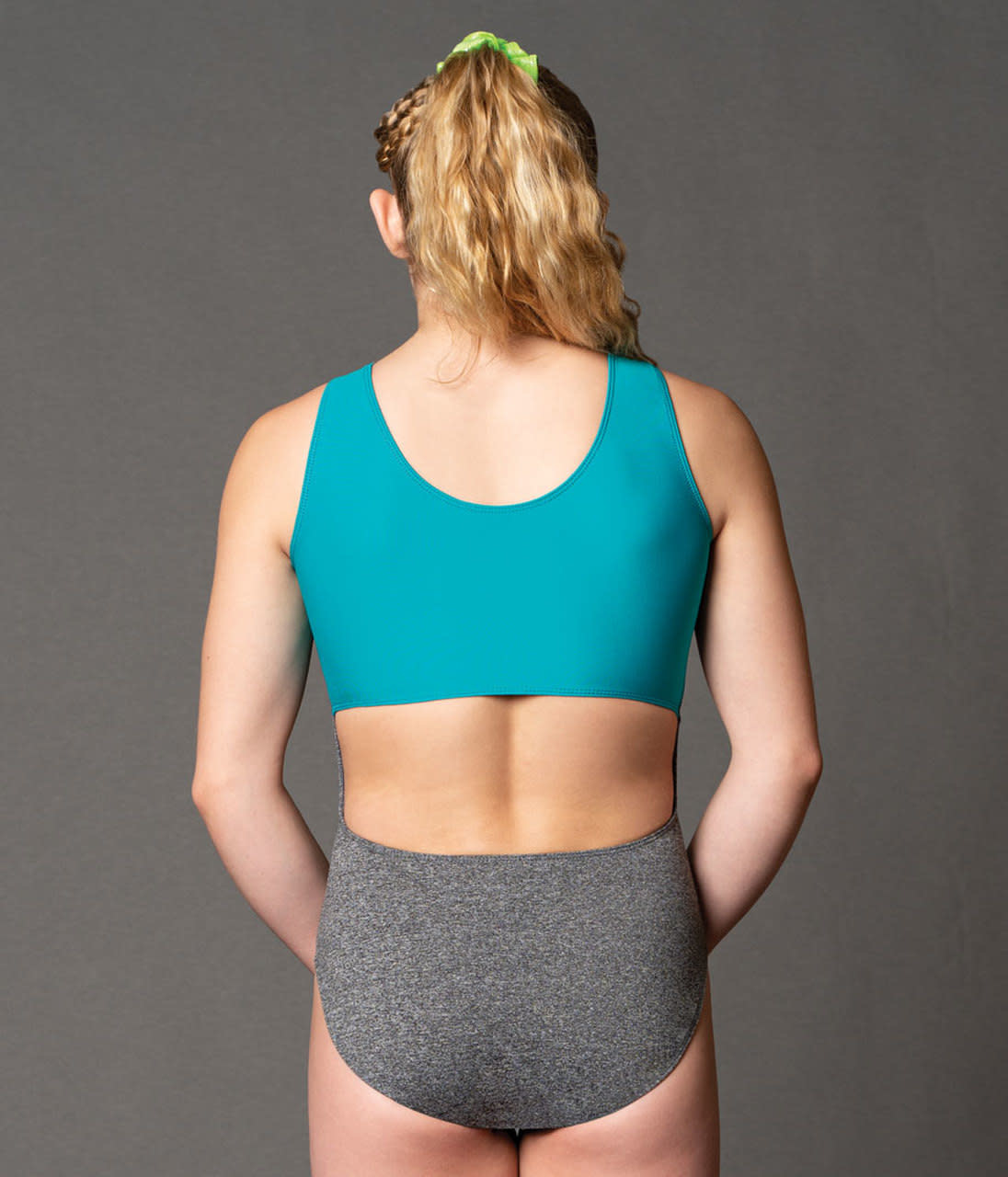 """Motionwear Maillot gymnastique Motionwear 1695-414, Bretelles larges, Style """"Tank"""", Imprimé: """"Strong is Beautiful"""""""
