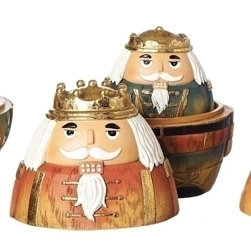 "Nutcracker Nesting Boxes, 3 PC,  5.5""H"