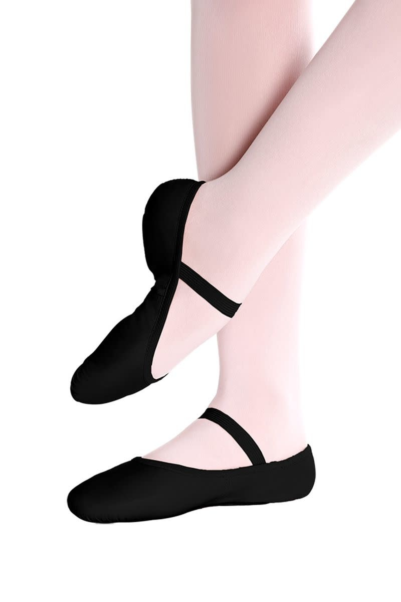 "So Danca Demi-pointe So Danca SD-55S, Semelle pleine ""full sole"", En cuir sans cordon"