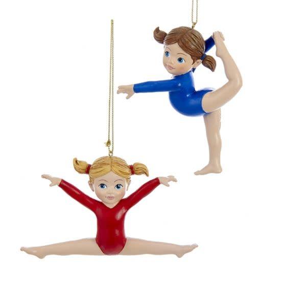"""Gymnast"""" ornament, Kurt S Adler C9289, 2 ass."""