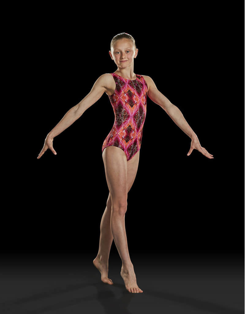 "Leo Maillot gymnastique Leo GB156L, Bretelles larges, Style ""Tank"""