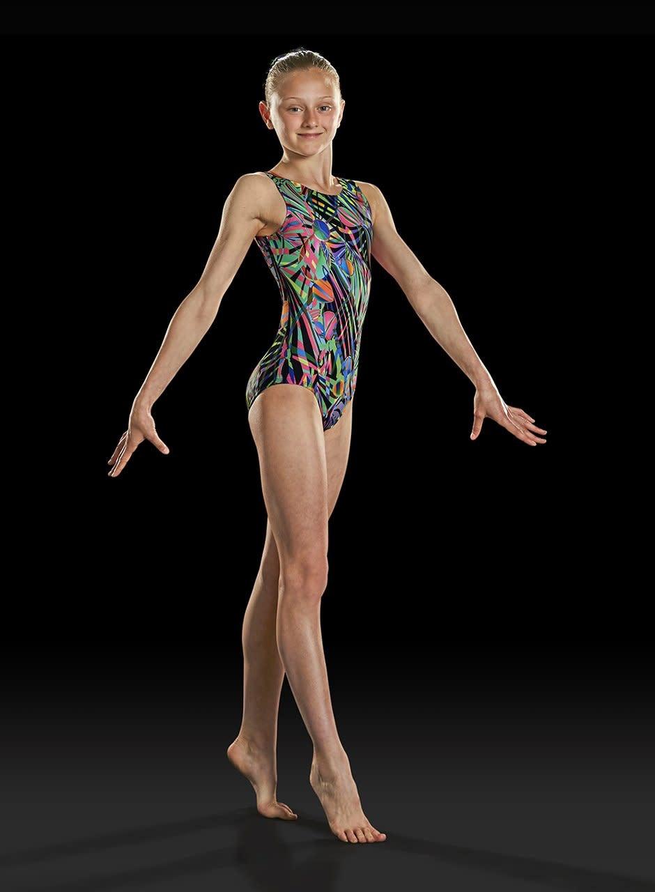 "Leo Maillot gymnastique Leo GB158c, Bretelles larges, Style ""Tank"""