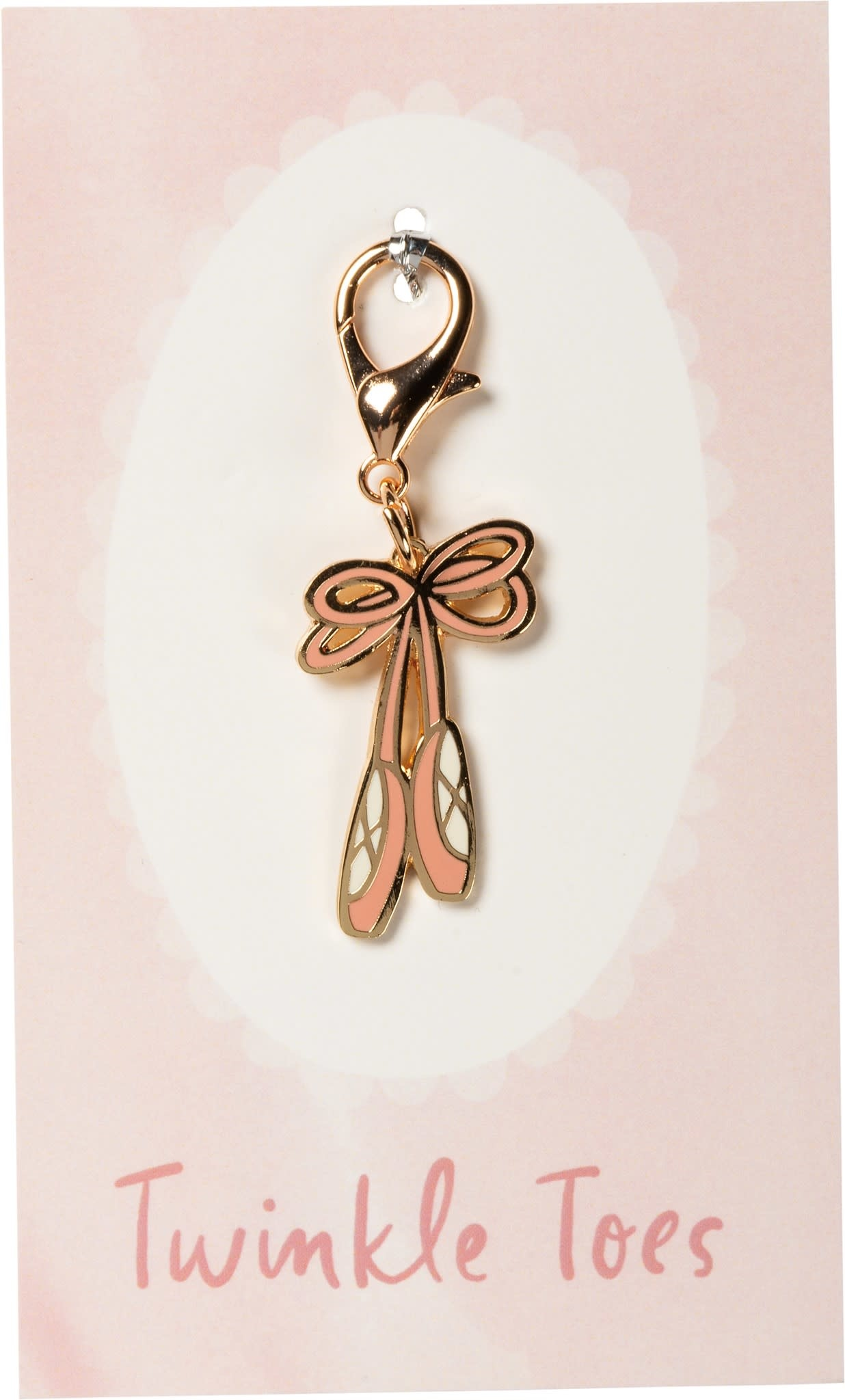 """candym """"Charm Ballet Slippers"""", P104422, 1"""" x 1.50""""; Carte: 3"""" x 5"""""""