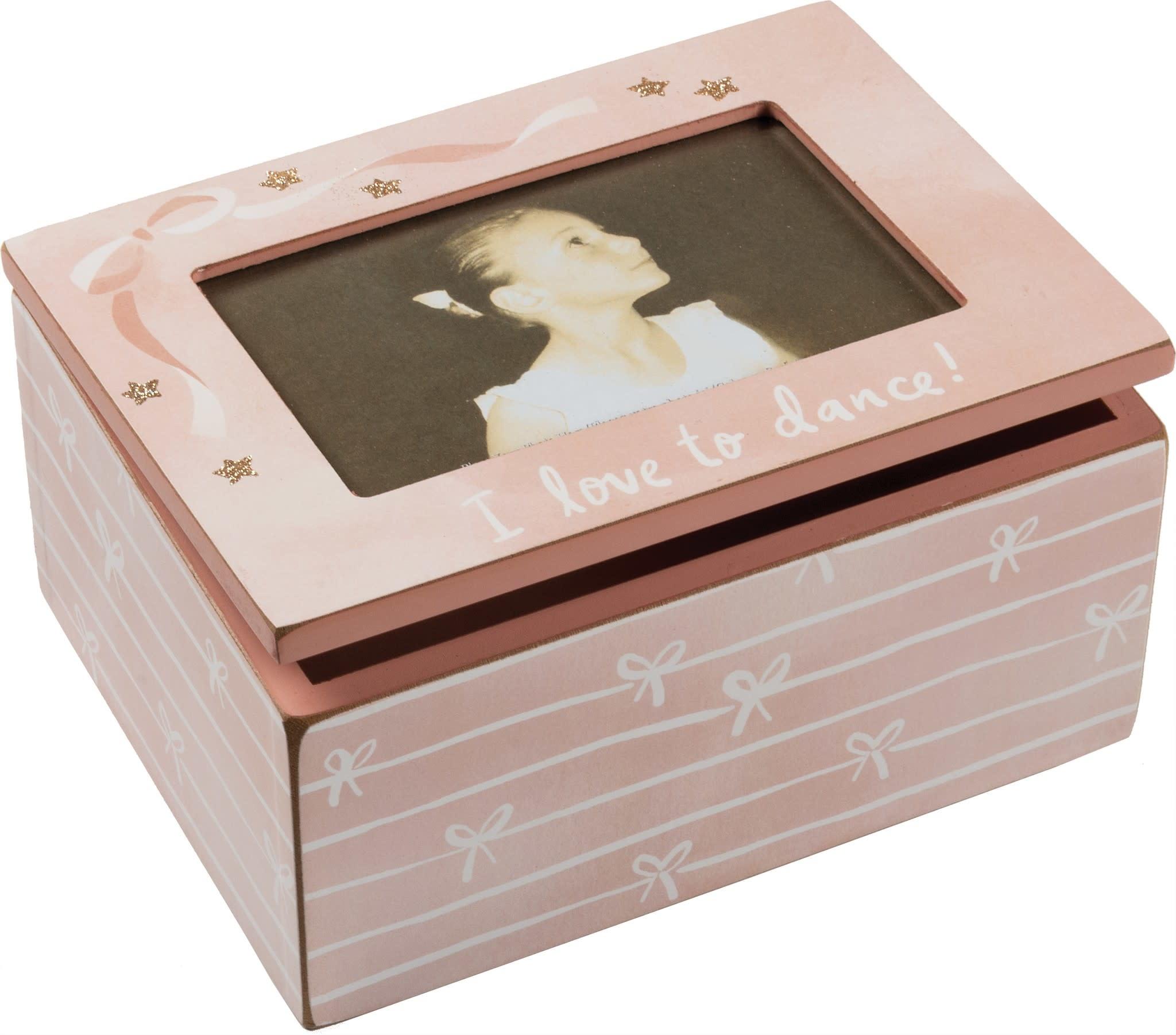 """candym Boite à photo en bois, P104406, Rose Ballet, 8"""" x 6"""" x 4"""""""