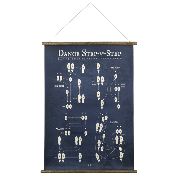 "Poster ""Dance Step by Step"", Ganz 160324"