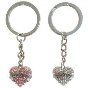 Dasha Dance Heart Keychain, Dasha 2820