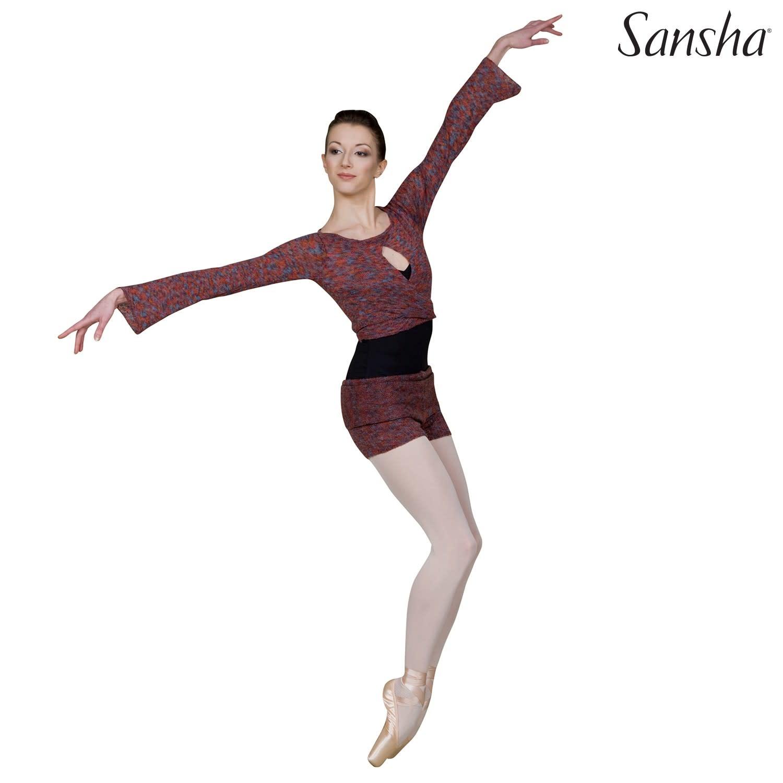 Sansha Short en tricot Sansha KT0630A, En acrylic et mohair, Bande de taille large