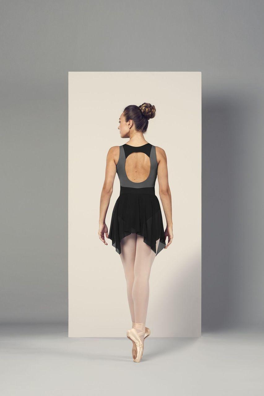 """Bloch Jupe Bloch R4941, Style """"Uneven Hem Mesh Skirt"""""""