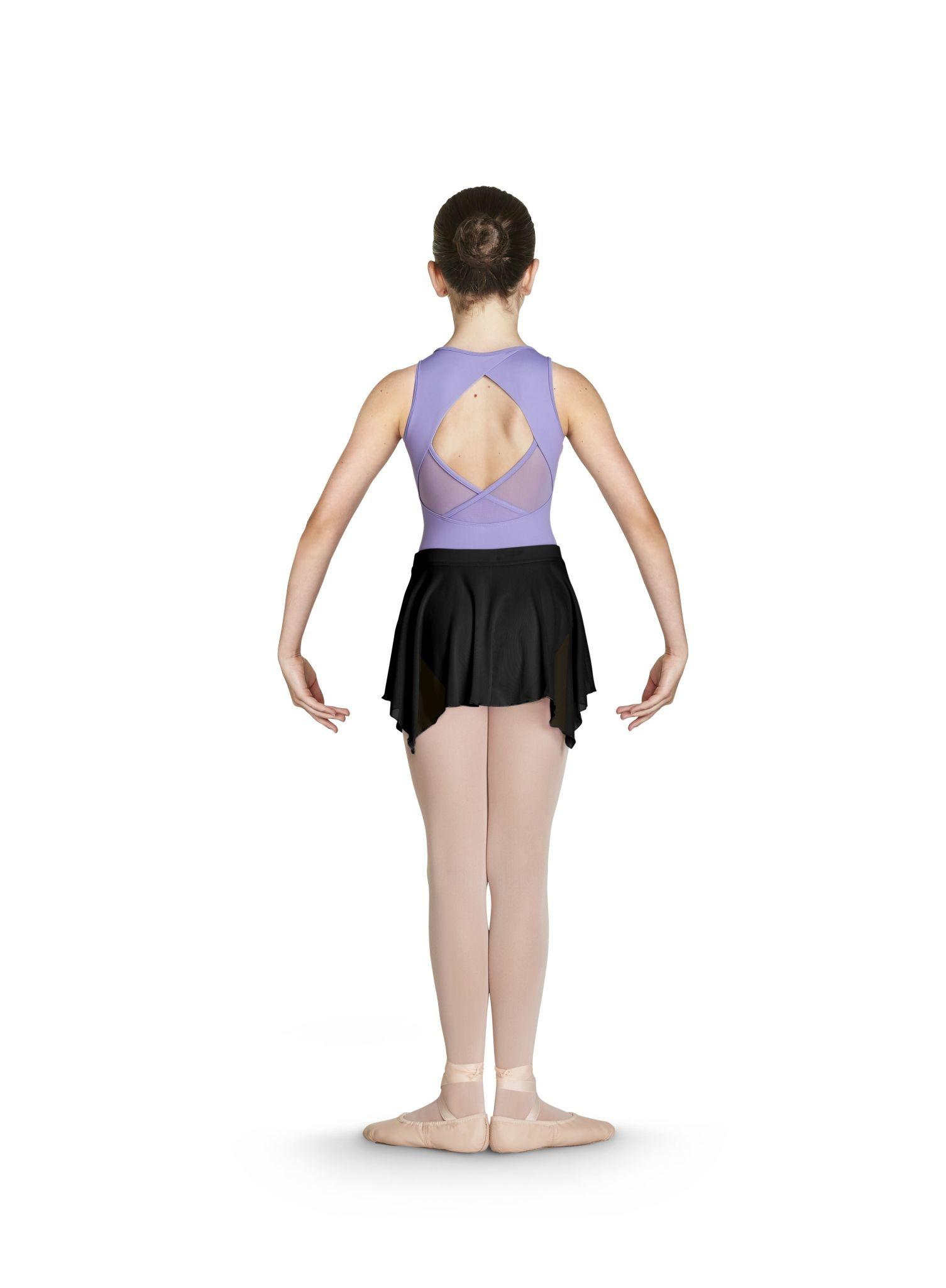 """Bloch Jupe Bloch CR4921, Style """"Metallic Print Uneven Hem Mesh Skirt"""""""
