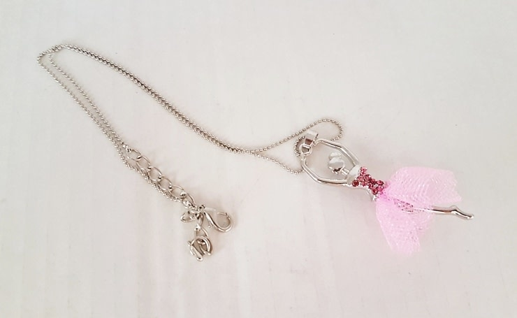 FH2 Pink Ballerina Tulle Tutu Necklace, FH2 BN0001