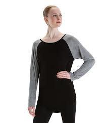 Motionwear Long Sleeves Top Motionwear 4897-017 GRAY