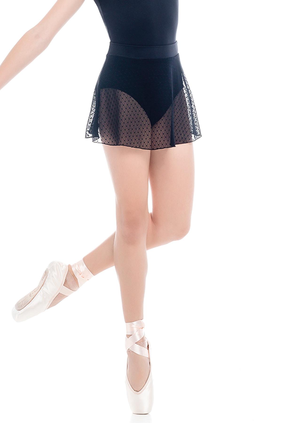 So Danca Diamond Mesh Pull-On Skirt, So Danca L-1909
