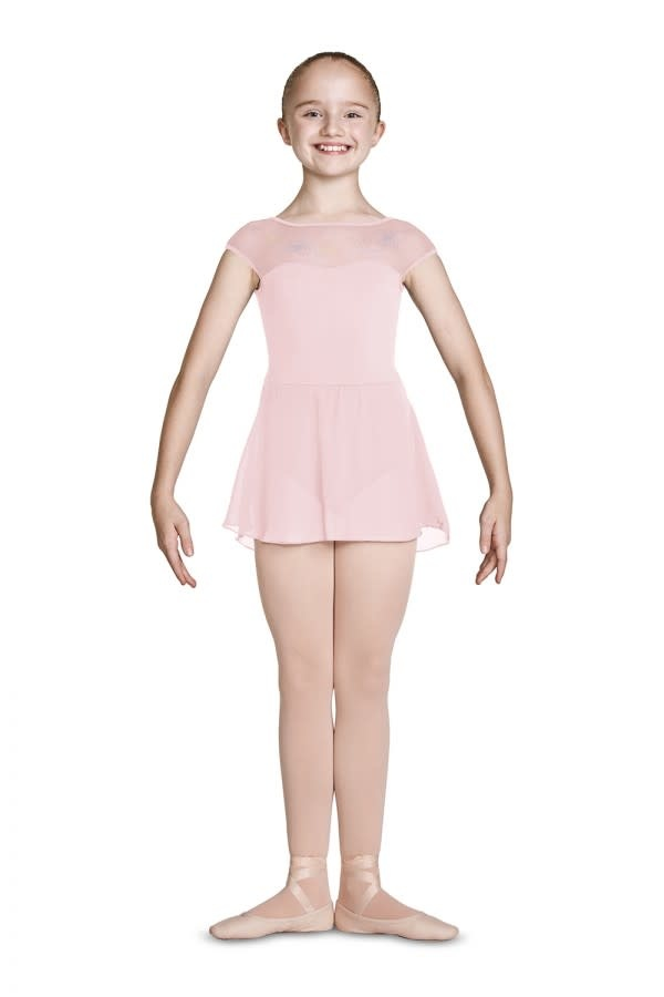Mirella Sweetheart Dress Mirella M1081C, with embroiled mesh