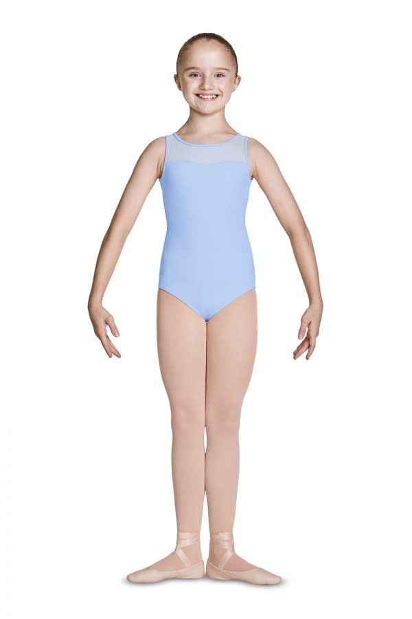 Mirella Sweetheart Open Back Leotard Mirella M463C, Embroiled Mesh