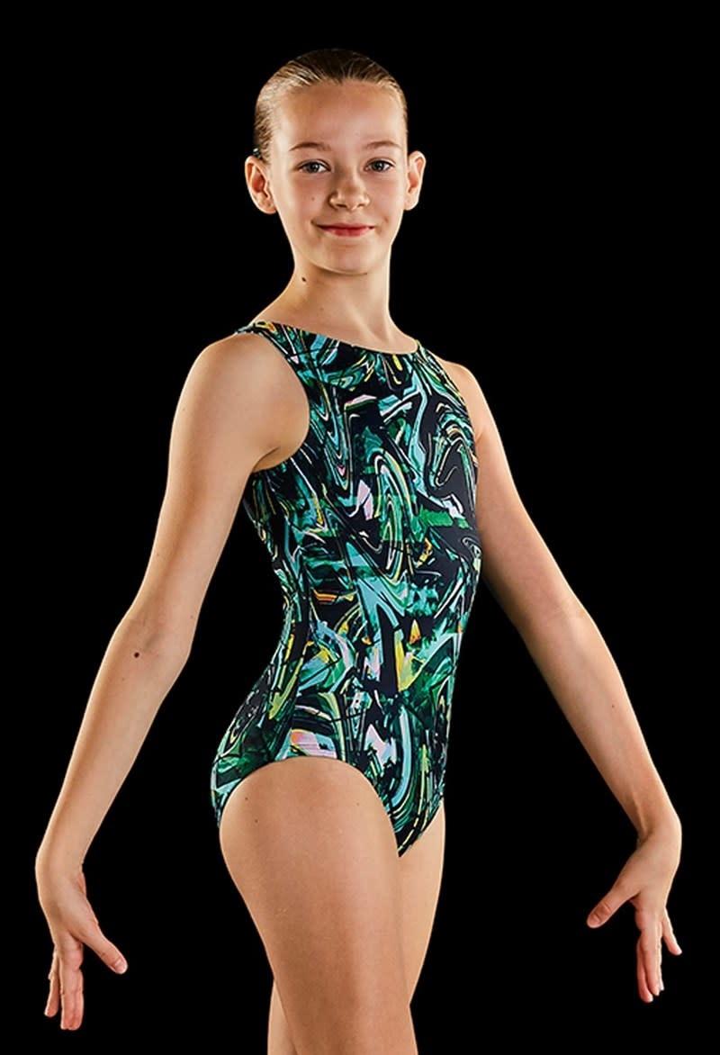 "Maillot gymnastique Dynami GB173L, Bretelles larges, Style ""Tank"""