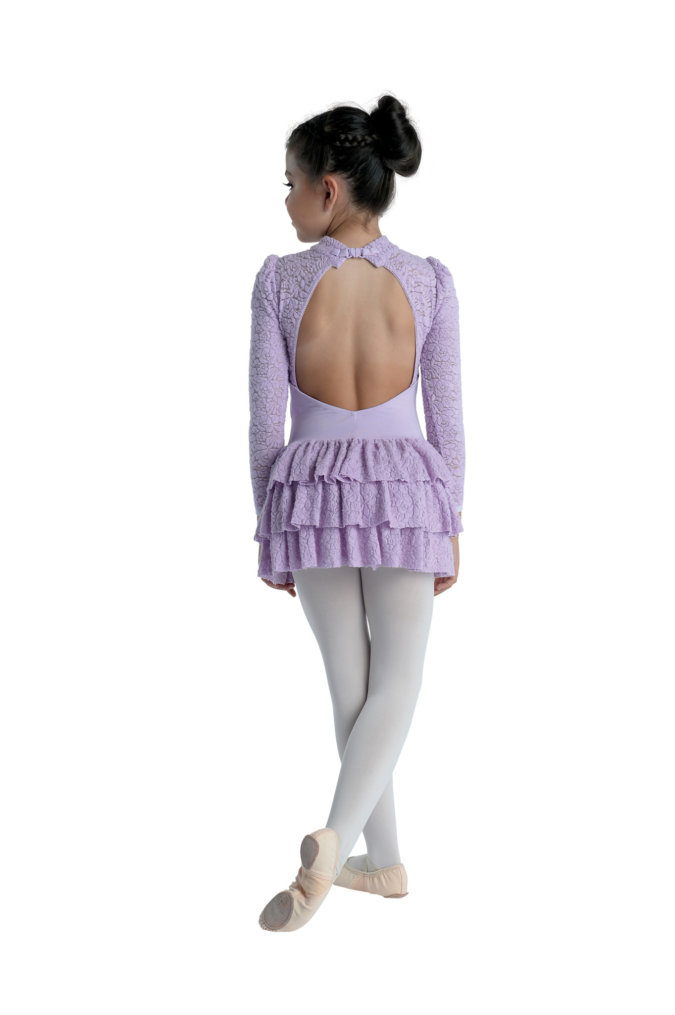 DanzNmotion Robe Danshuz 20204C, Manches longues avec tutu et dentelle