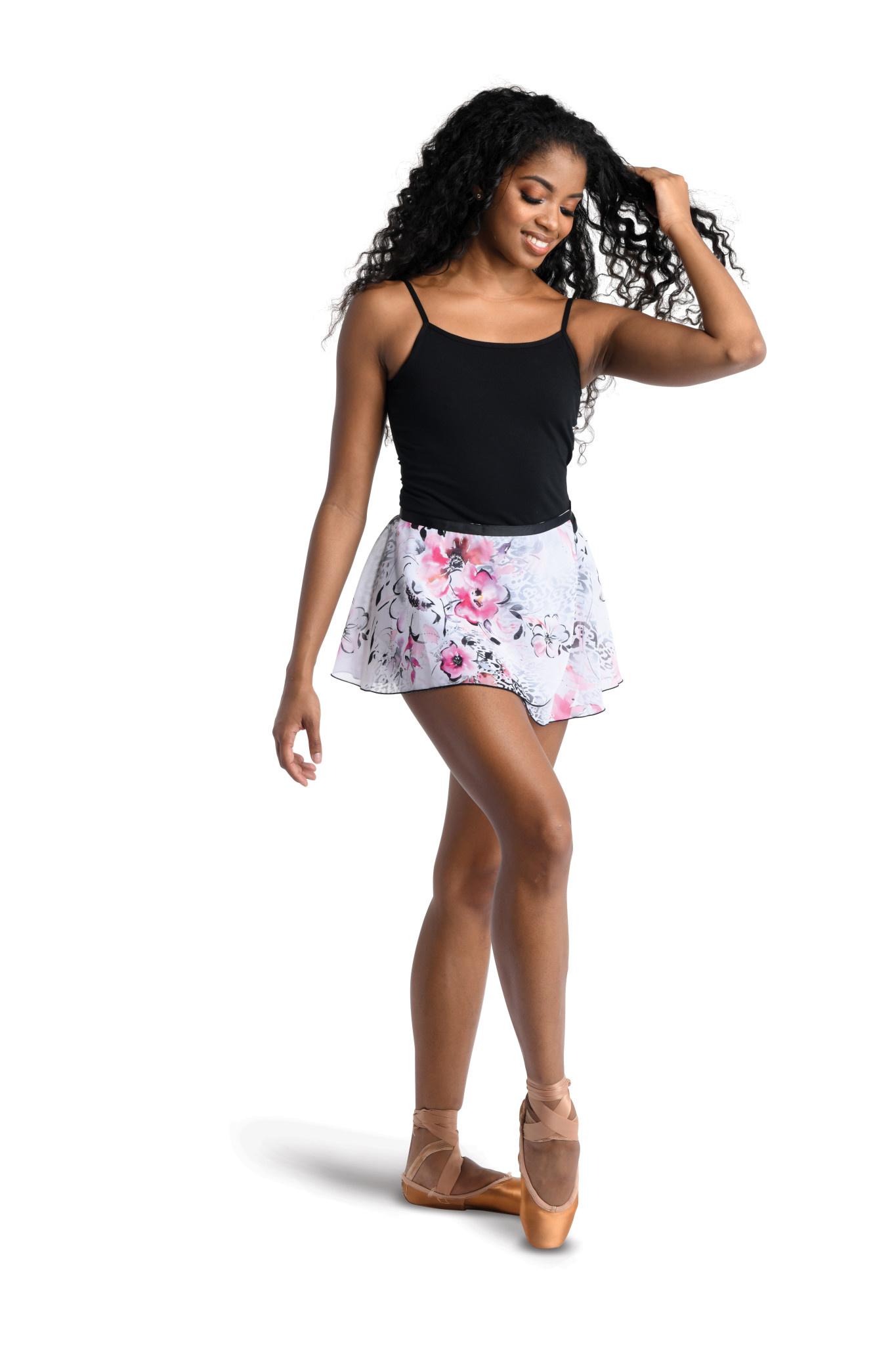 DanzNmotion Classic Print Wrap Skirt Danshuz 19407A