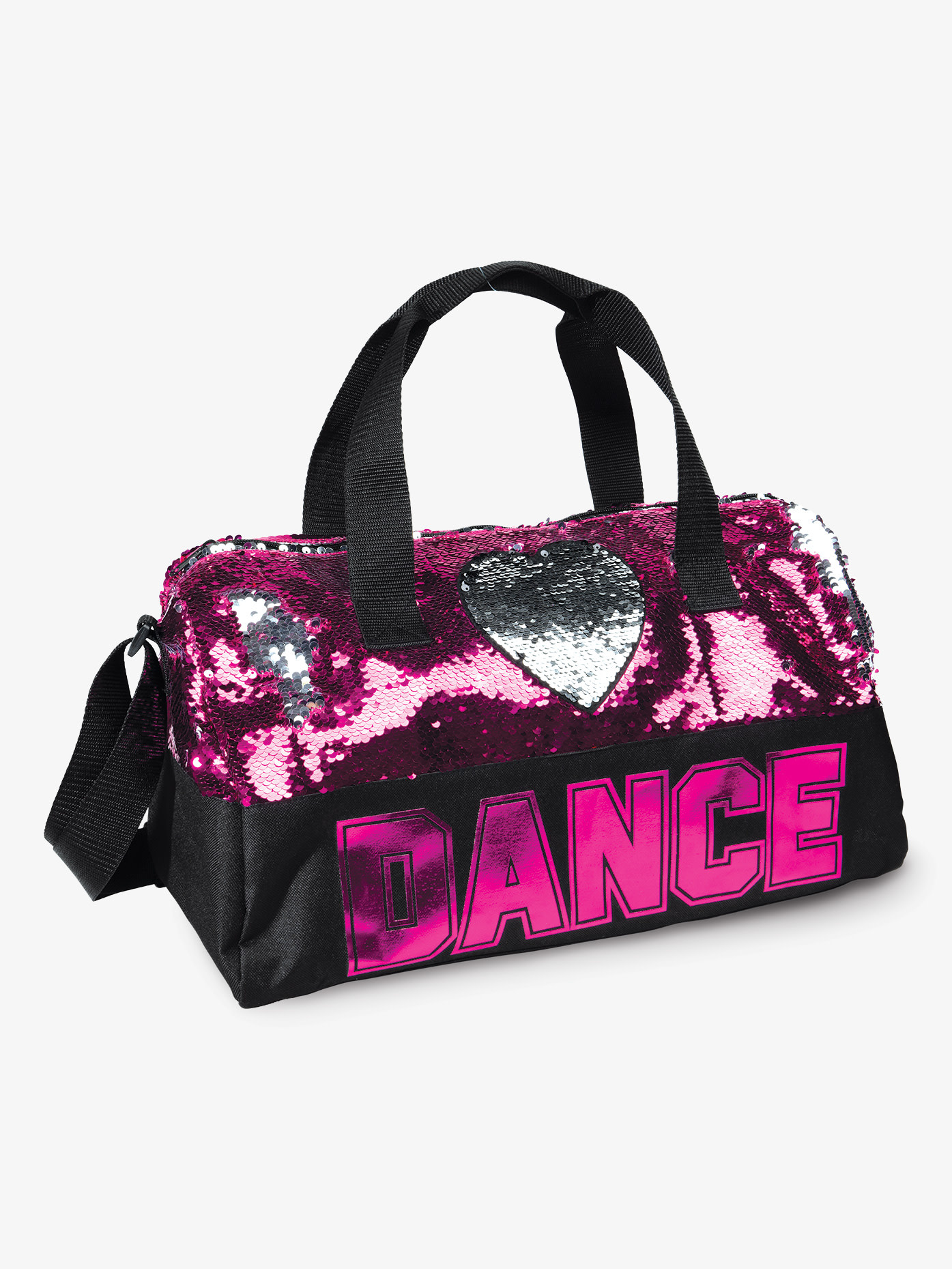 DanzNmotion Sequin Dance Heart Duffle DanzNmotion B842
