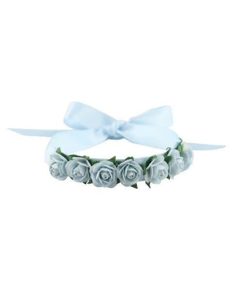 Hair Blossom with Satin Ribbon, Mimy H001, Small