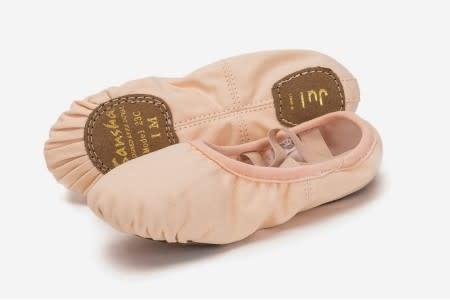 "Sansha Split sole Ballet Slippers Sansha 23C ""Juli"", Canvas, No drawsting"