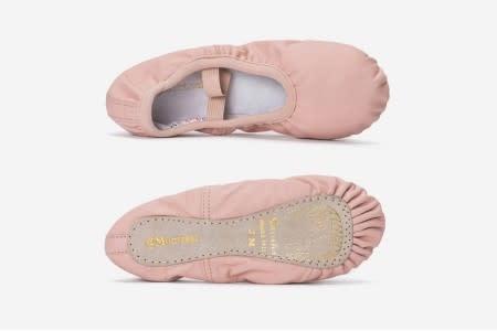 "Sansha Full sole Ballet Slippers Sansha 141L ""@Montreal"", Leather, No drawsting"