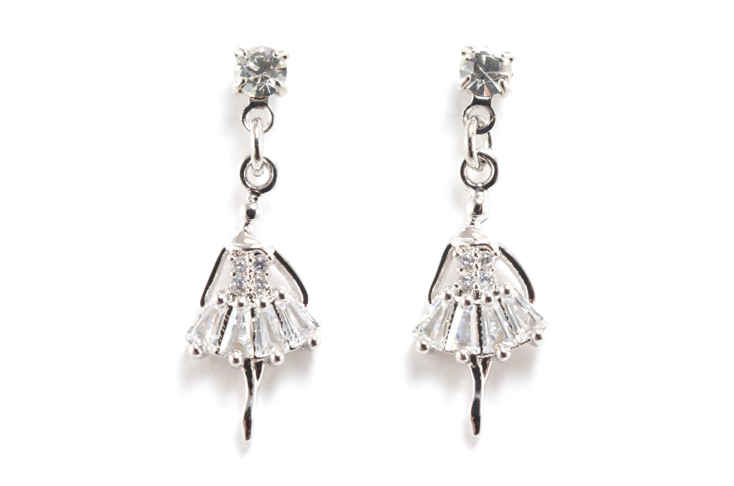 Ballerina Pendant Earrings, Yunie E050451H