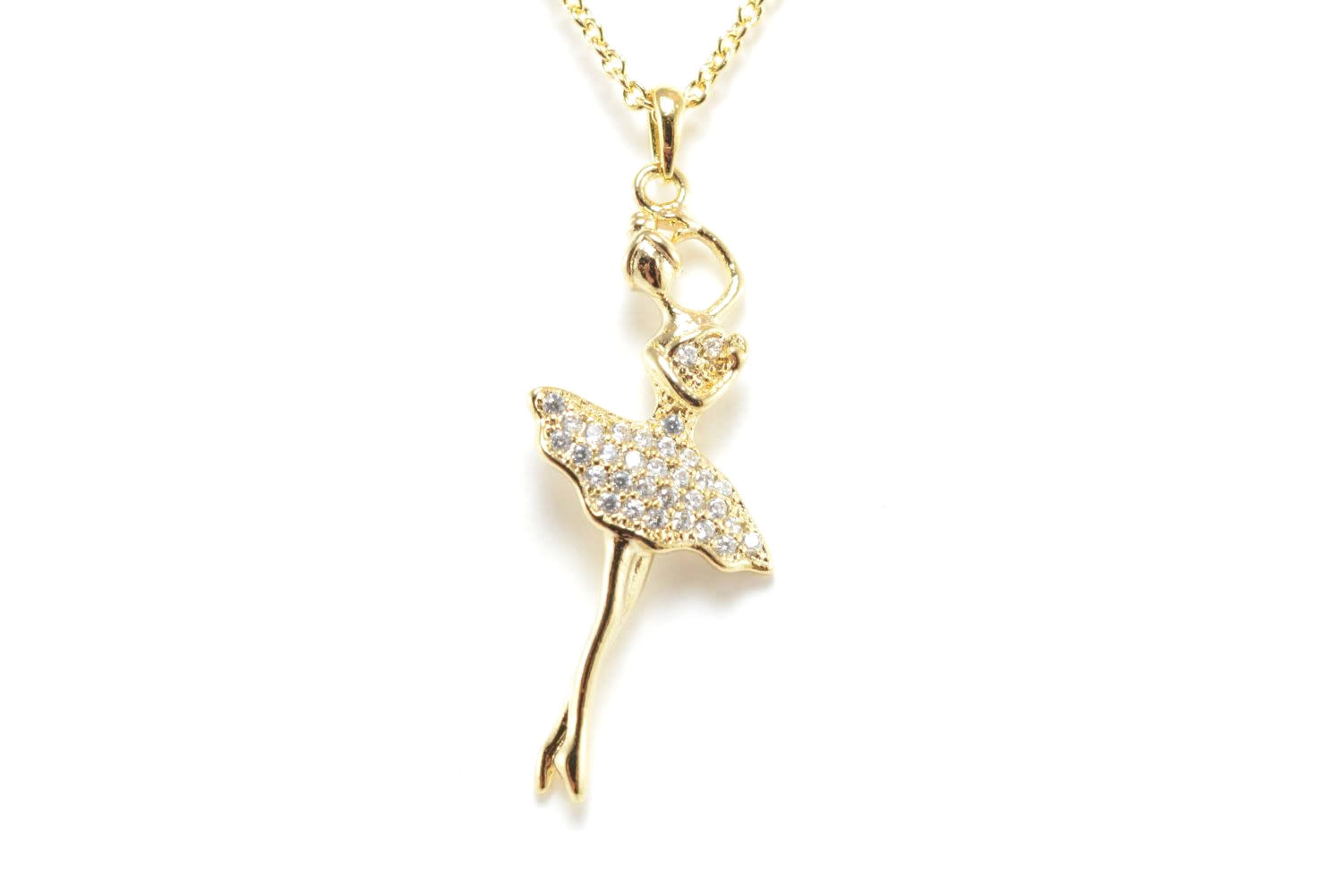 """Ballerina"" Gold Necklace, Yunie N060175E"