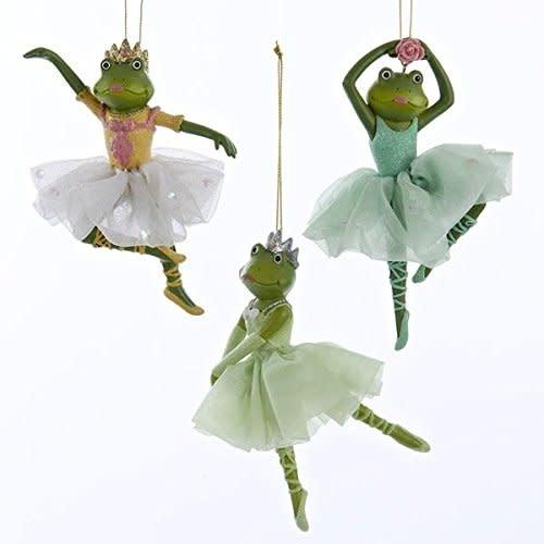 """""""Ballerina Frog"""" ornament, Kurt Adler C8931"""