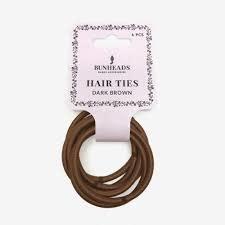 Bunhead Hair Ties, Bunhead BH1509, DBR, package of 6
