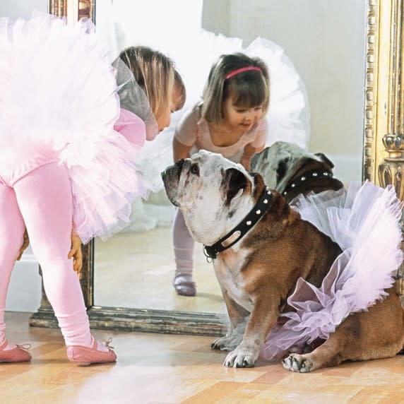 """Ballerina and dog"" Greeting Card, Incognito 10219"