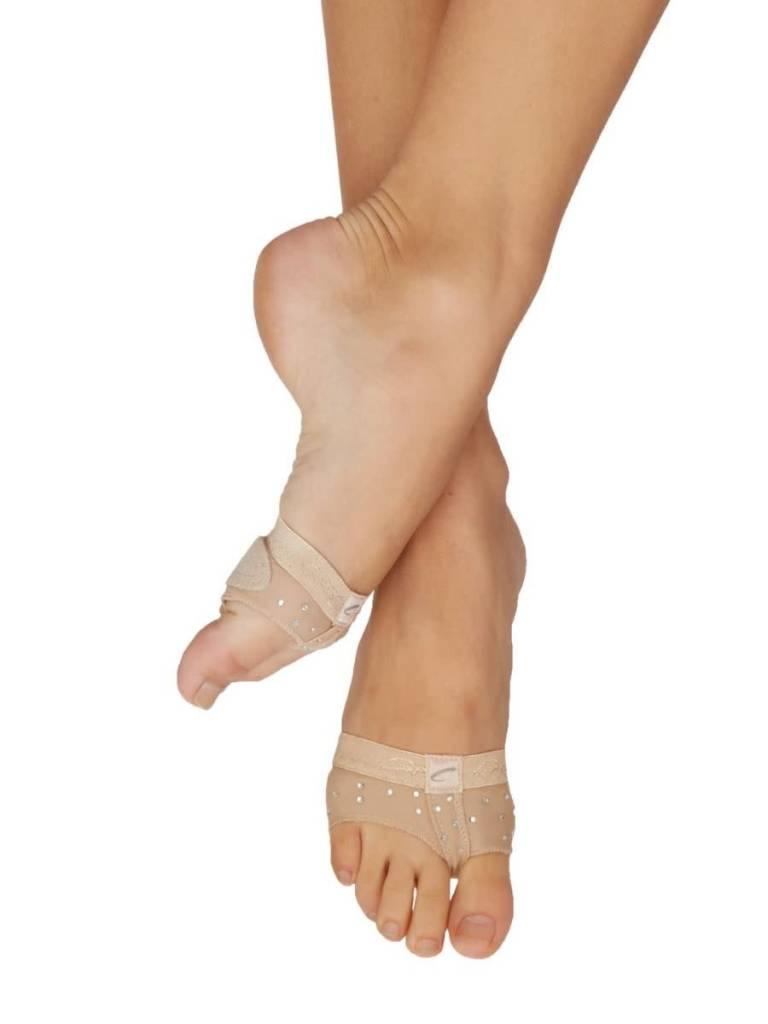 "Capezio Bout de pied ""Foot thong"" Capezio H07R ""Footundeez"", Avec Strass ""Rhinestones"""