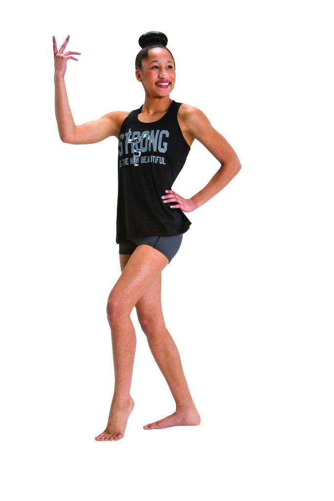 """Motionwear Camisole Motionwear 4602-017 noire,  """"Strong is the new beautiful"""""""
