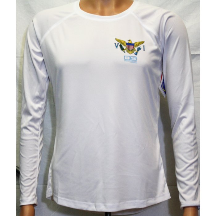 Vapor Ladies Dry-Fit LS VI Flag