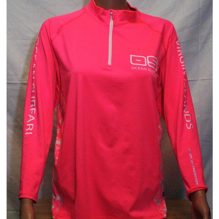 BB-249 1/4 Zip Lad Pink