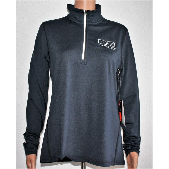 Ladies 1/4 Zip Long Sleeve Graphite
