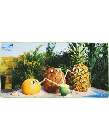 Ocean Surfari Whimsical Fruit Towel