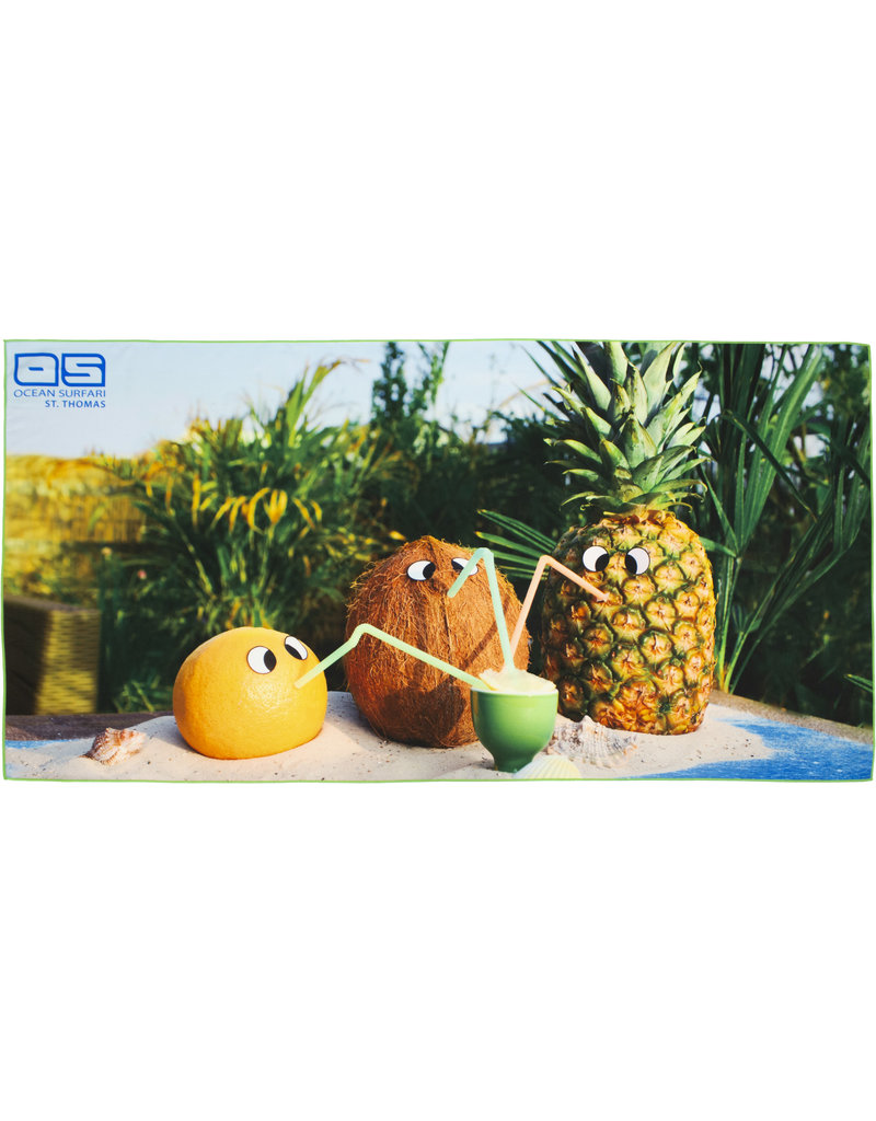 Ocean Surfari Whimsical Fruit Towel