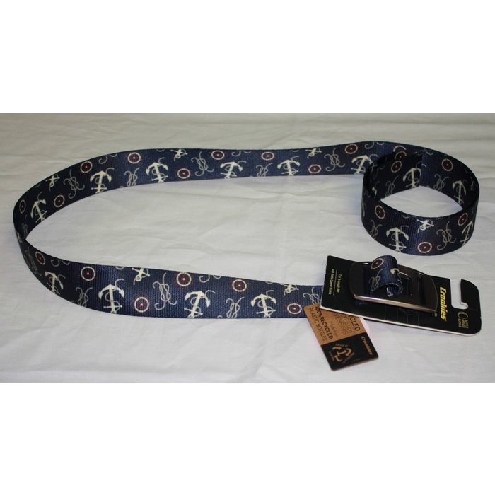 Croakie Belt Sail Ropes Anchor BK