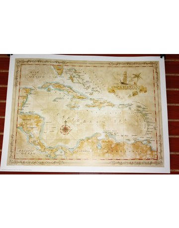 One Treasure Limited Caribbean Map 21x28