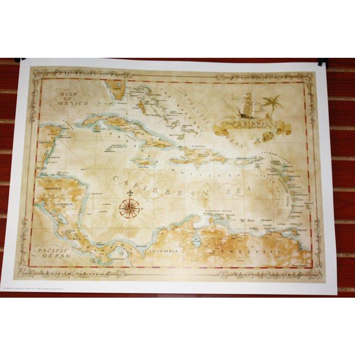 Caribbean Map 21x28