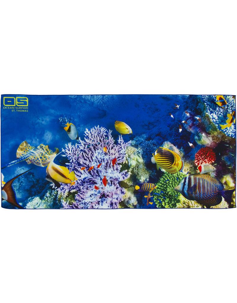 Ocean Surfari Coral Reef Towel