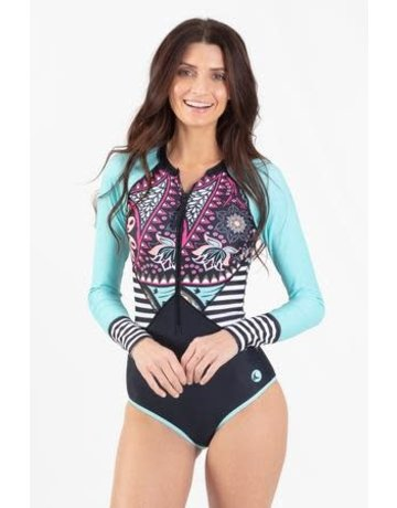 WL One Piece Zip Rash Guard Paisley