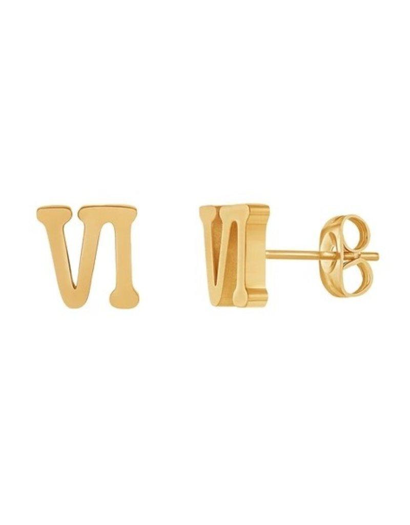 VI Earring Gold