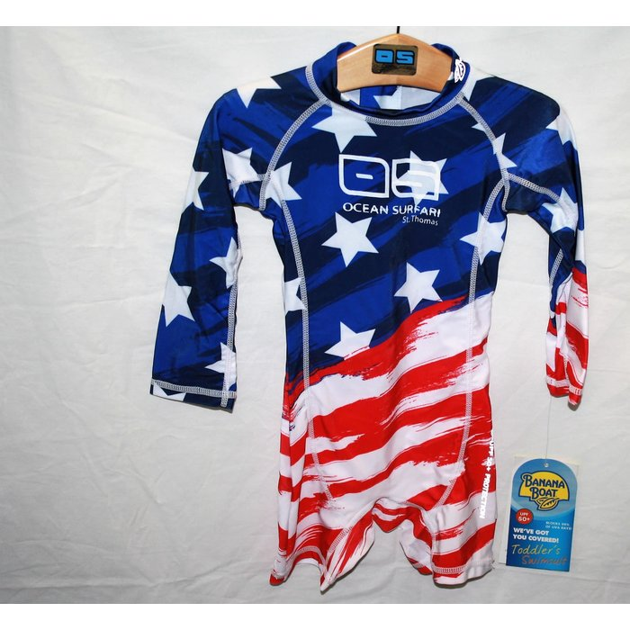 BB 416 Toddler Flag Onesie