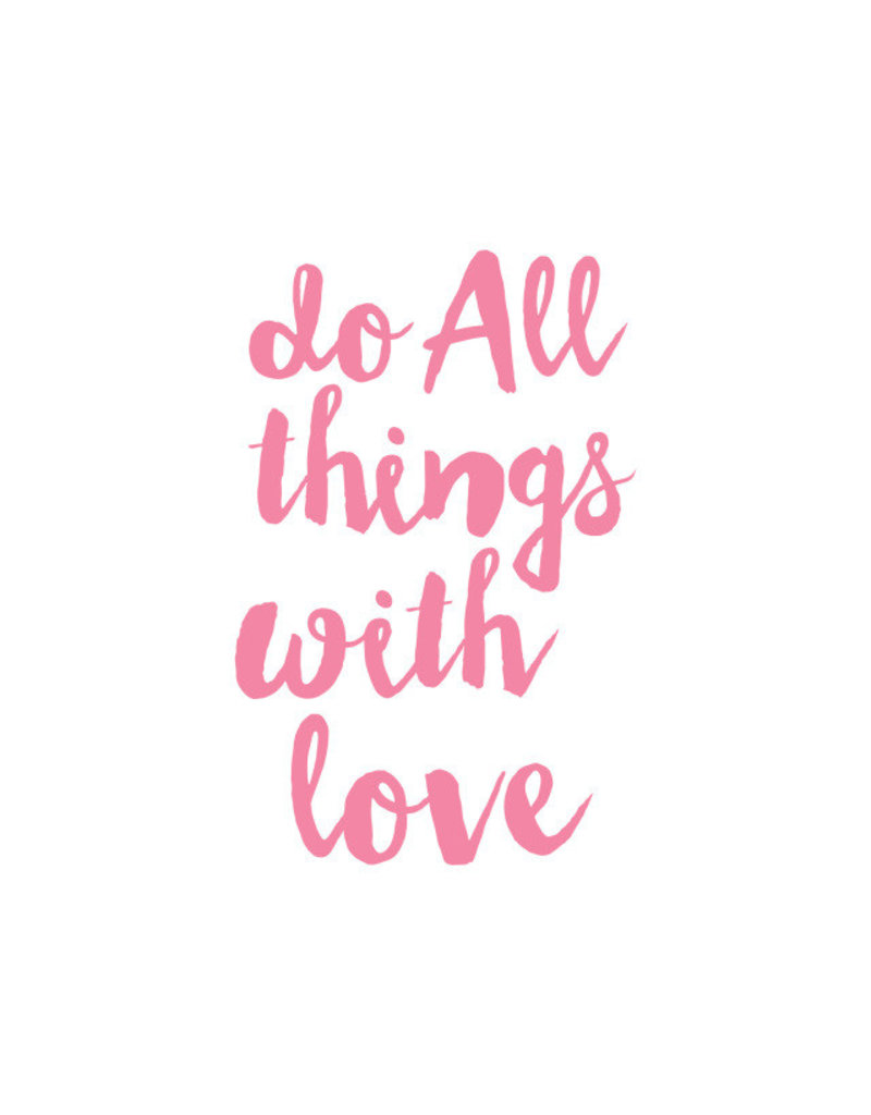 Sticker-Lishious Do Things With Love Decal