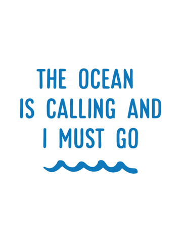 Sticker-Lishious The Ocean is Calling Decal